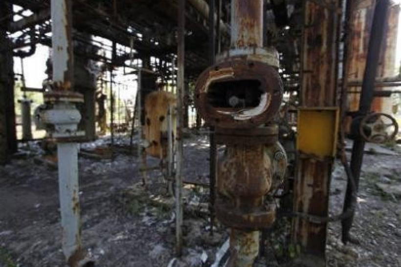 The Remains of the Union Carbide Corp. Pesticide Plant Now Owned by Dow Chemical Co.