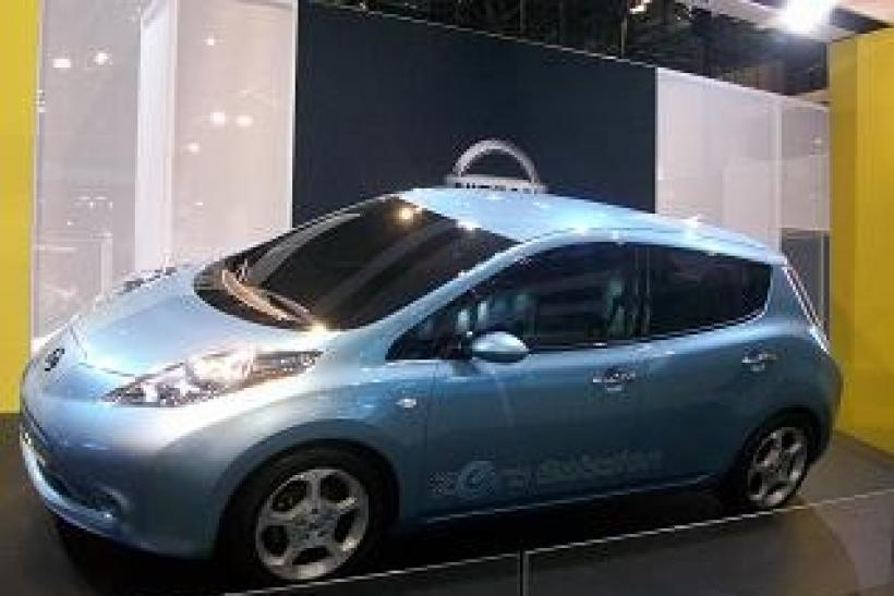 "Nissan's electric vehicle ""Leaf"""