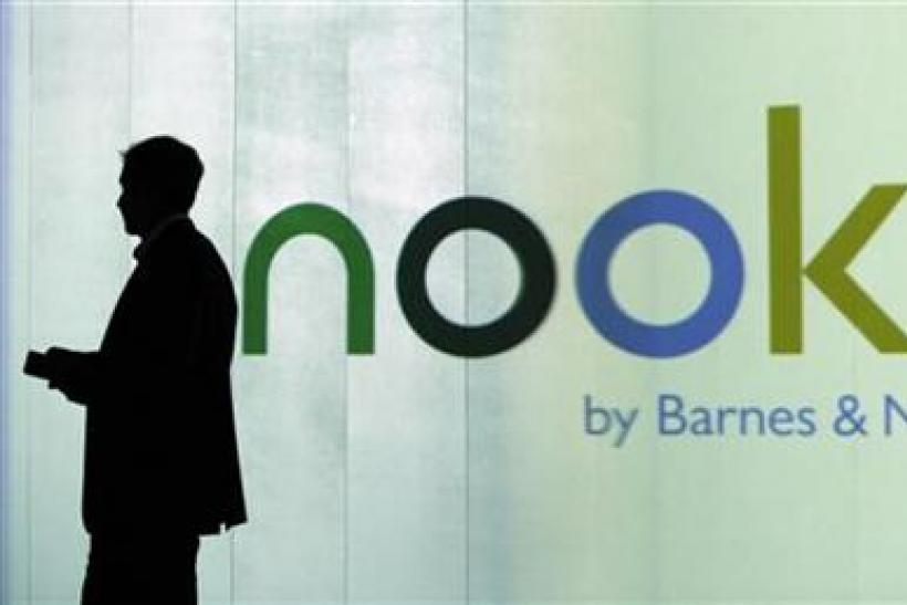 Lynch, President of of Barnes & Noble.com, is seen during launch of the nook, in New York.