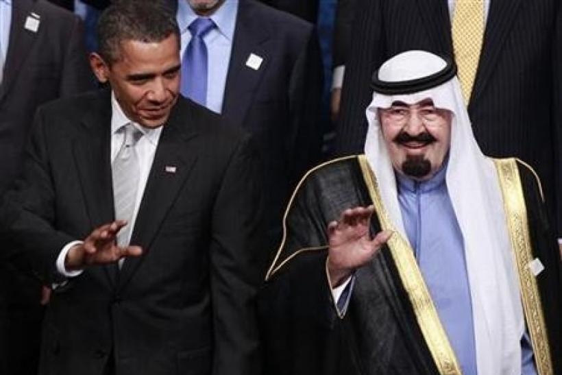 U.S. President Barack Obama and Saudi Arabia's King Abdullah