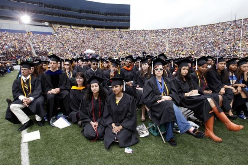Graduating students at the University of Michigan