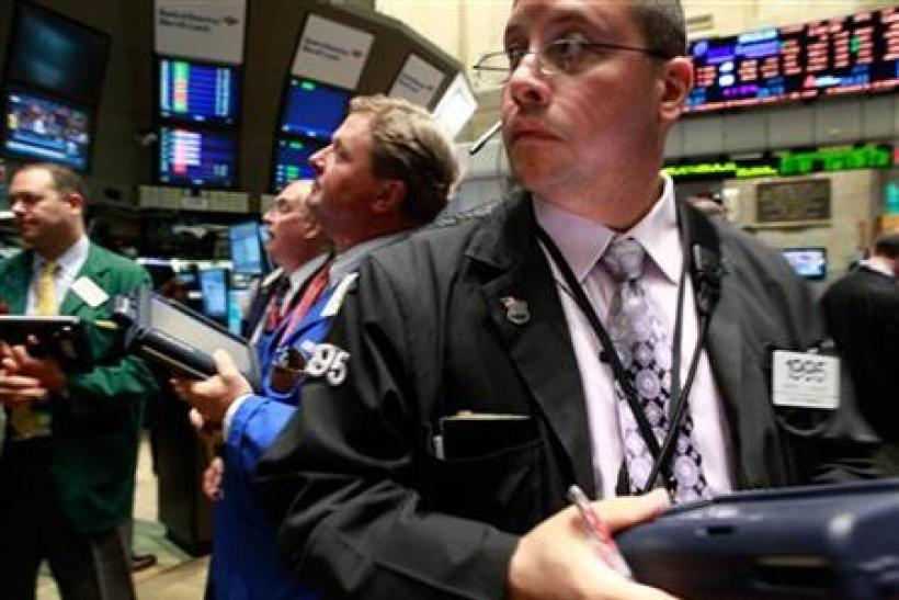 US Traders work on the floor of the New York Stock Exchange