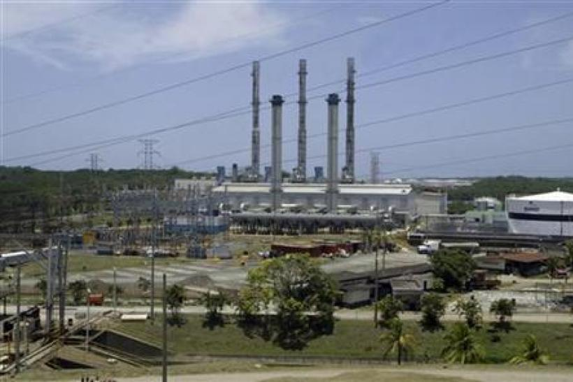 General view of French-Belgium GDF SUEZ energy plant in Colon City