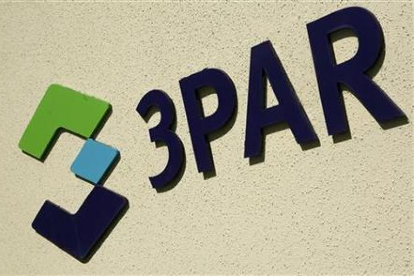 3Par logo shown at company headquarters in Fremont
