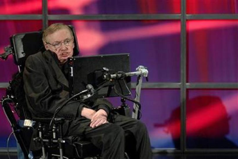 Hawking speaks at his official welcoming ceremony at Perimeter Institute For Theoretical Physics in Kitchener