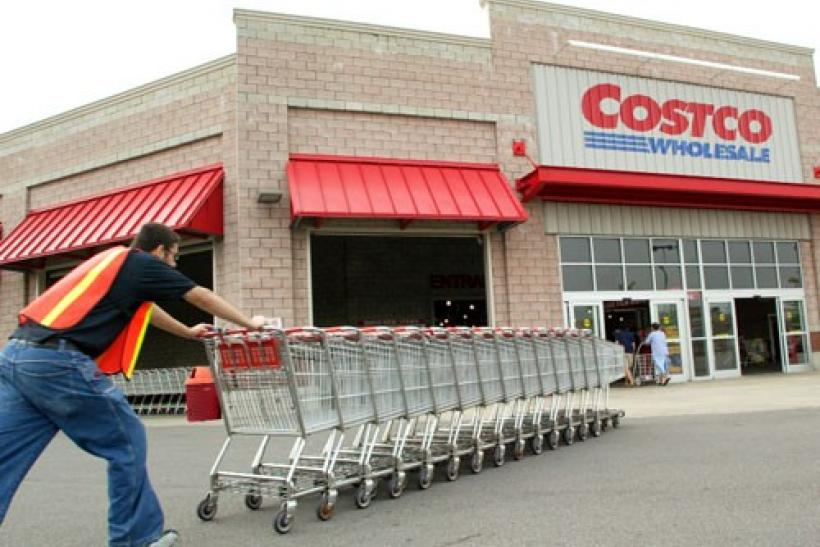 An Exterior View Showing A Costco Warehouse Store In Chicago Illinois