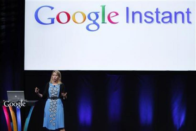 Google Inc vice president Marissa Mayer unveils Google Instant in San Francisco