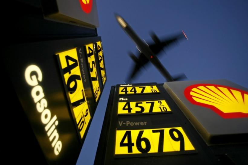 Oil prices Seen at a Gasoline Station