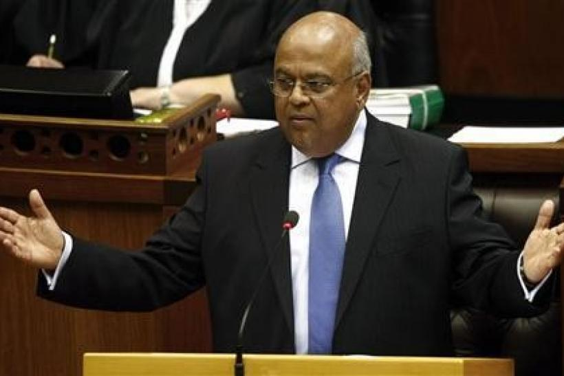 South Africa's Minister of Finance Pravin Gordhan delivers the 2010 budget speech at parliament in Cape Town