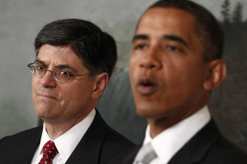 U.S. President Barack Obama announces his nominee for Office of Management and Budget Director Jacob Lew