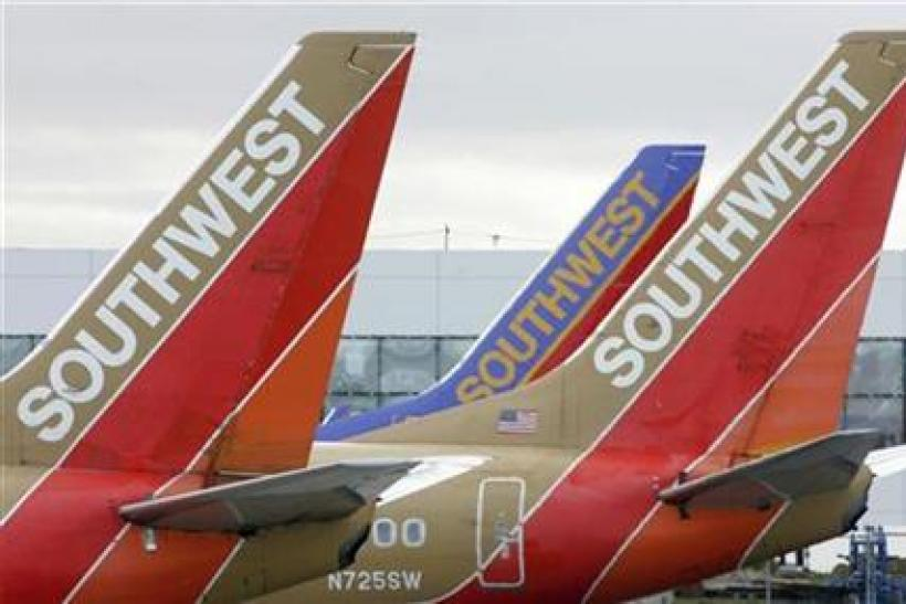 File image of Southwest Airlines planes preparing for departure from Oakland International Airport