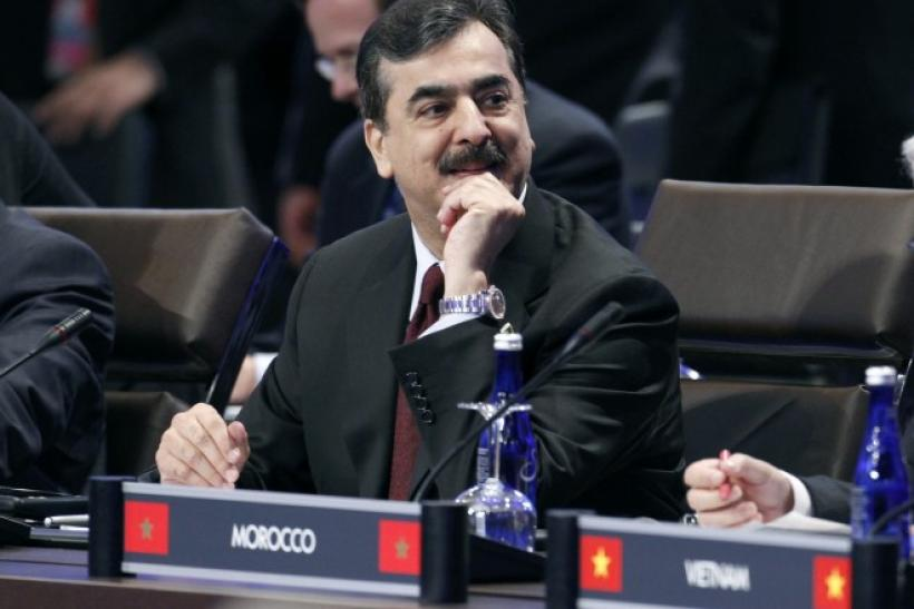 Pakistan's PM Yusuf Raza Gilani waits for the start of the first plenary session at the Nuclear Security Summit in Washington.