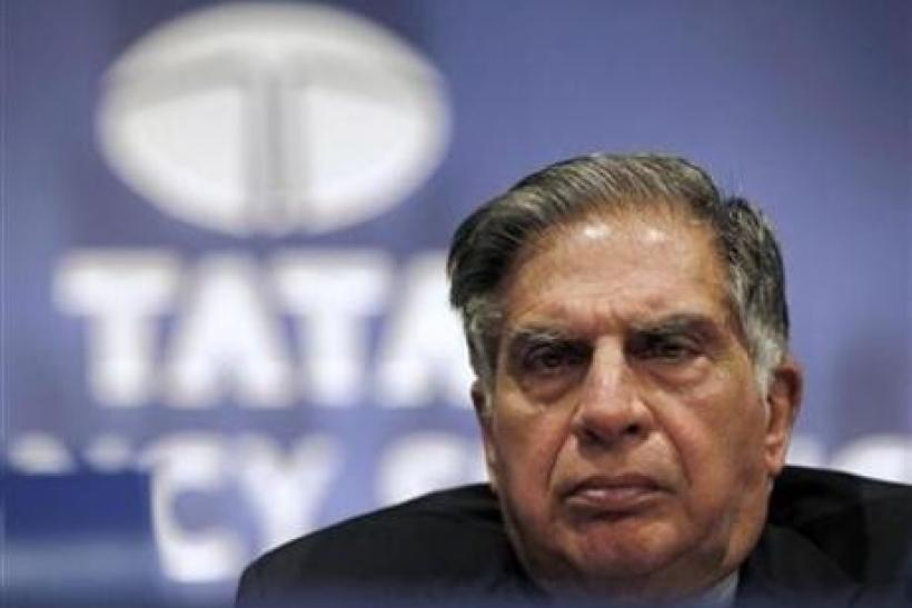 Ratan Tata, Chairman of the Tata Group, attends the annual general meeting of Tata Consultancy Services in Mumbai July 2, 2010.