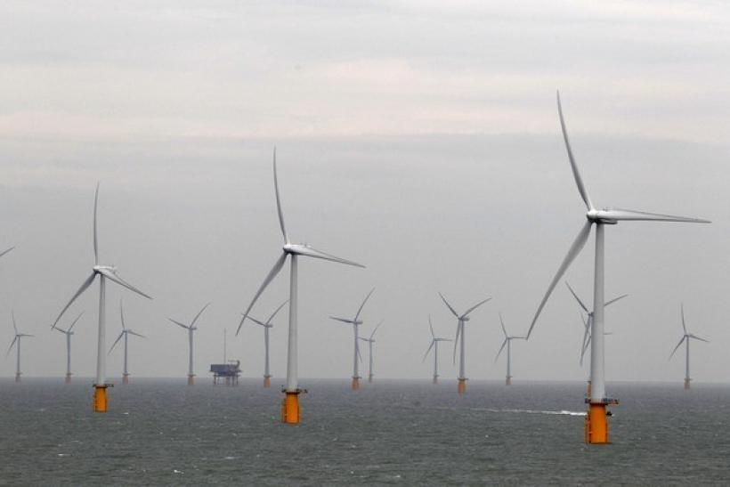 Wind turbines are seen at Thanet Offshore Wind Farm off the Kent coast in southern England September 23, 2010.