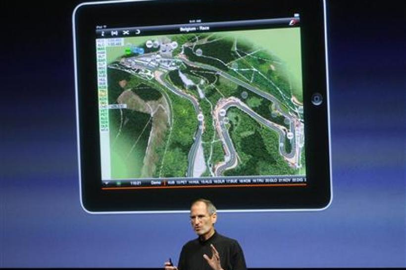 File photo of Apple Inc. CEO Jobs speaking about the iPad at a special event at Apple headquarters in Cupertino