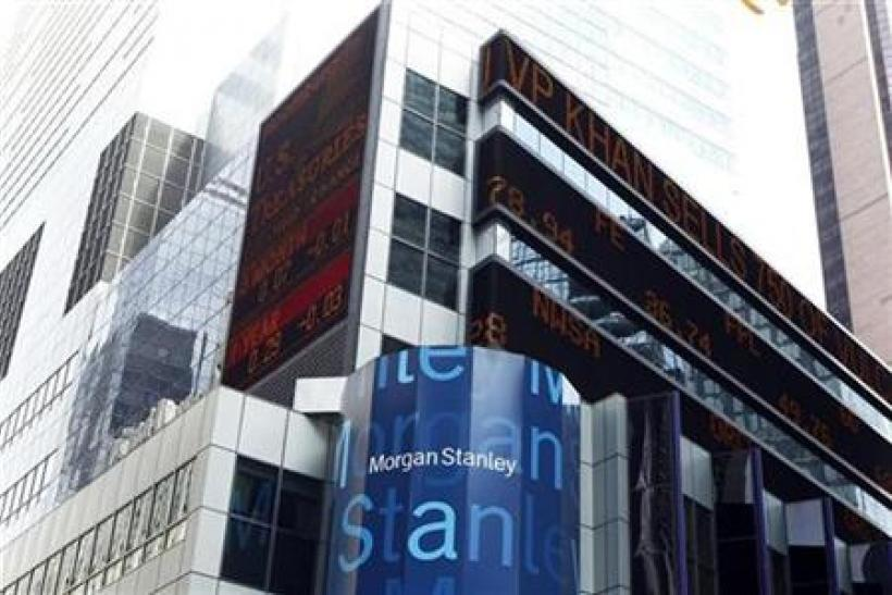 The Morgan Stanley headquarters is seen in New York