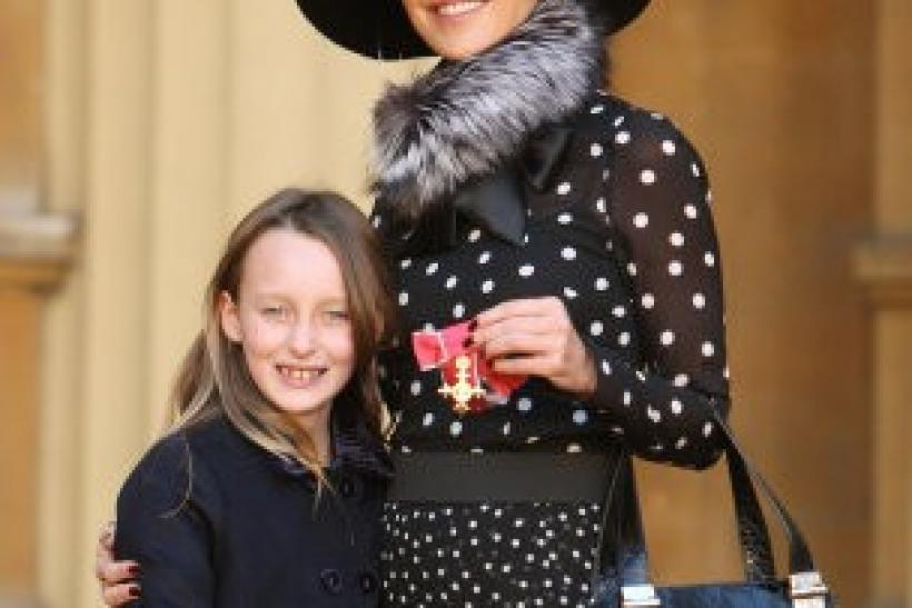 Tamara Mellon Recieves OBE from Queen Elizabeth.