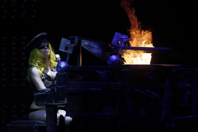 U.S. pop singer Lady Gaga performs on stage during her concert in Budapest