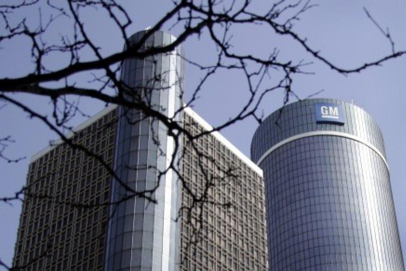 General Motors world headquarters is seen in downtown Detroit.