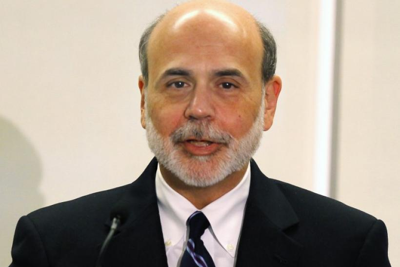 U.S. Federal Reserve Board Chairman Ben Bernanke speaks at the Federal Reserve Bank of Boston in Boston