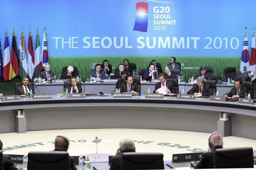World leaders attend the opening plenary session of the G20 Summit in Seoul November 12, 2010.