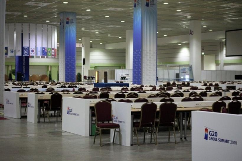 The G20 Seoul Summit Media center is seen a day after the end of the meetings on November 13, 2010.