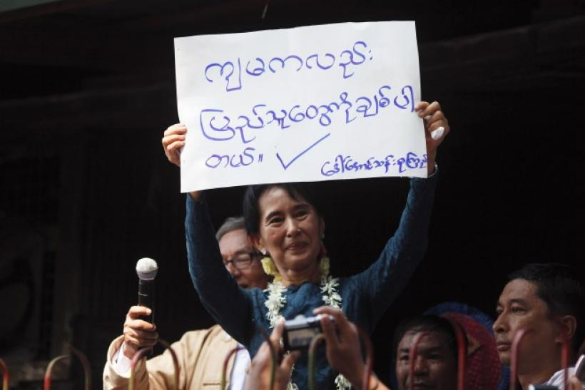 Aung San Suu Kyi calls for unity among democratic forces