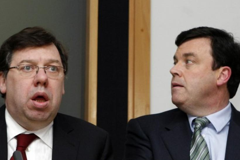 Ireland's Prime Minister Brian Cowen and Minister of Finance Brian Lenihan