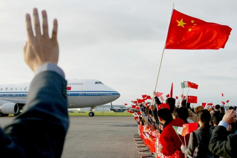 China's Premier Wen Jiabao's aircraft departing Shannon Airport