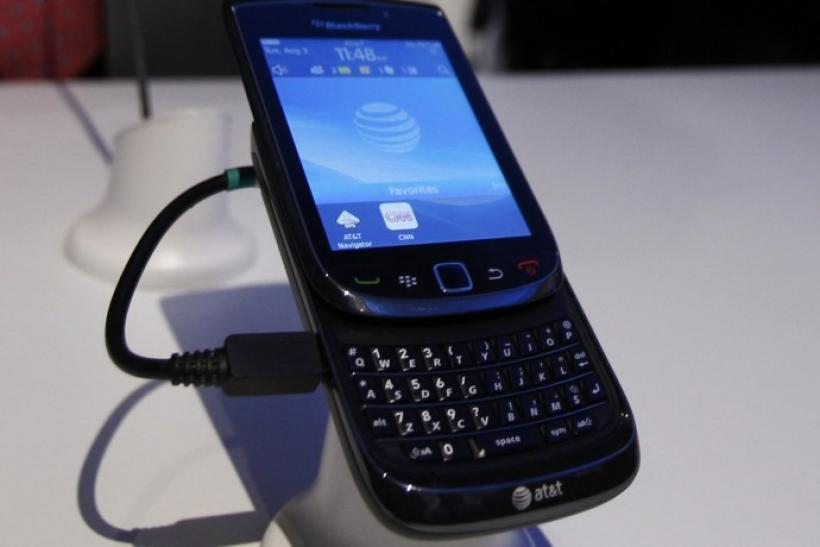 The new BlackBerry Torch 9800 smartphone