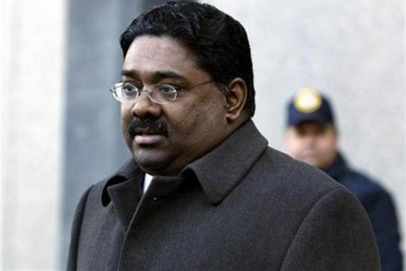 Raj Rajaratnam, the principal in the $21 million Galleon Group hedge-fund insider trading case, leaves at Manhattan Federal Court for a bail hearing on conspiracy and securities fraud charges in New York