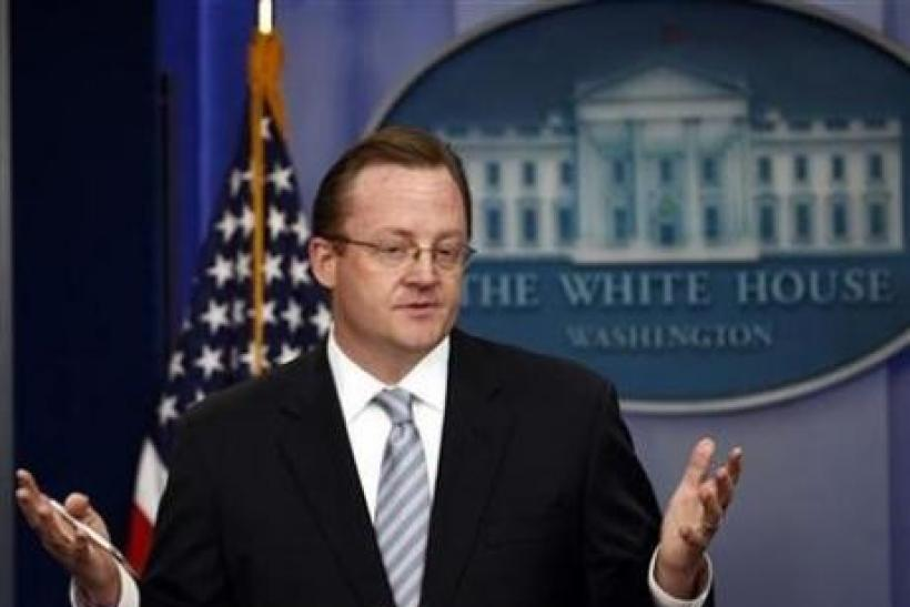 White House Press Secretary Robert Gibbs.