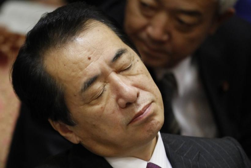 Japan's Prime Minister Naoto Kan at a budget committee meeting in the upper house of parliament in Tokyo November 26, 2010.
