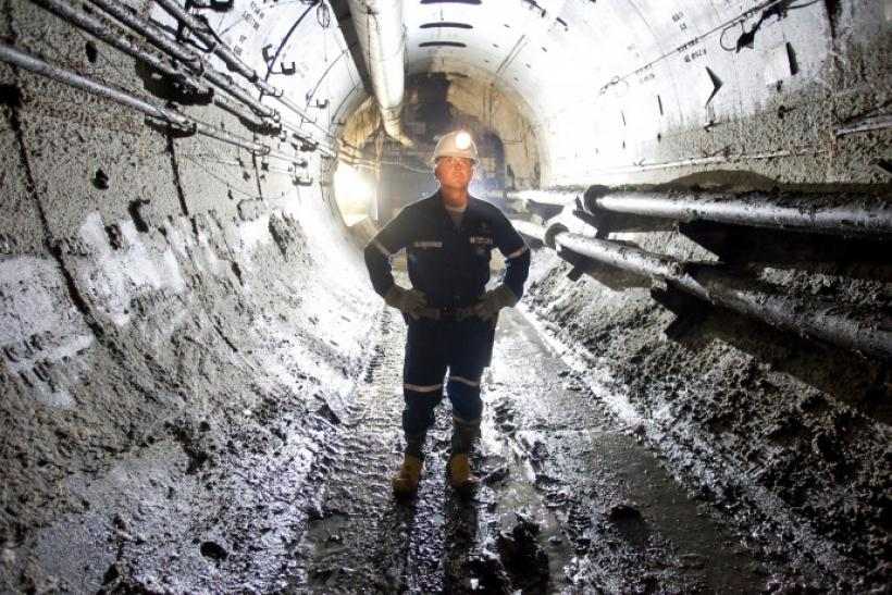 Cameco's chief geologist Doug McIlveen stands in a tunnel inside the uranium producer's Cigar Lake mine