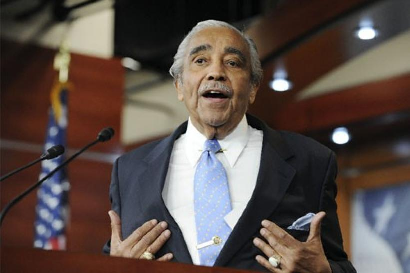 U.S. Representative Charles Rangel (D-NY) answers a question during a news conference after the U.S. House of Representatives censured him for ethics violations, on Capitol Hill in Washington, December 2, 2010