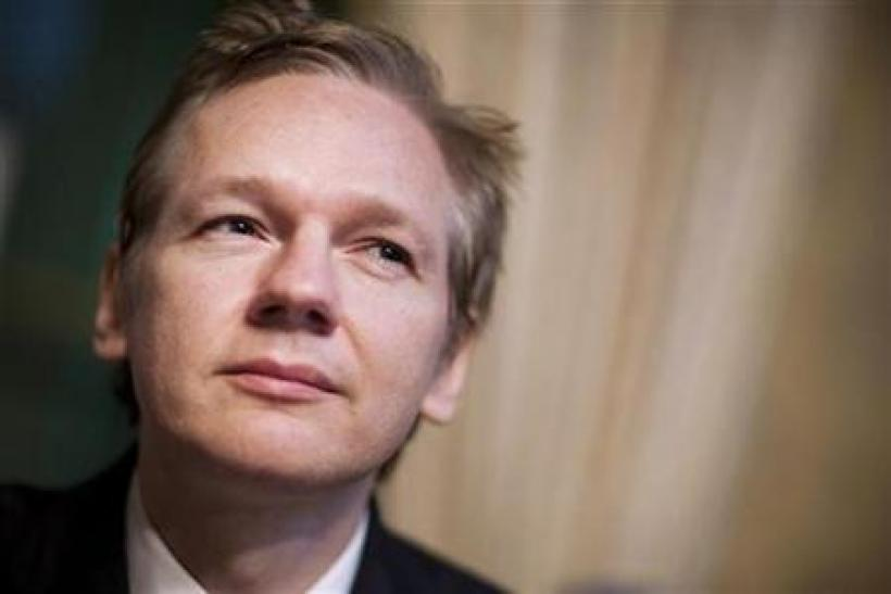 File photo of WikiLeaks founder Julian Assange attending a news conference at the Geneva Press Club in Geneva