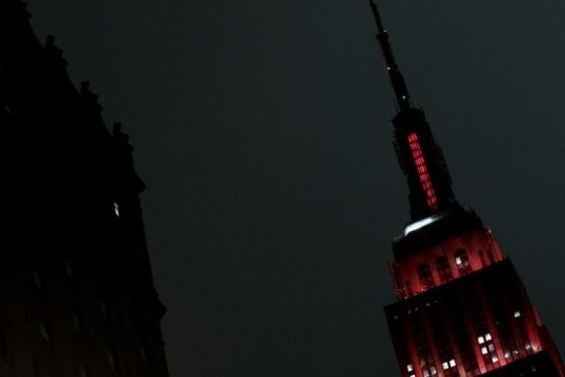 The Empire State Building is lit up red in recognition of World AIDS Day in New York.