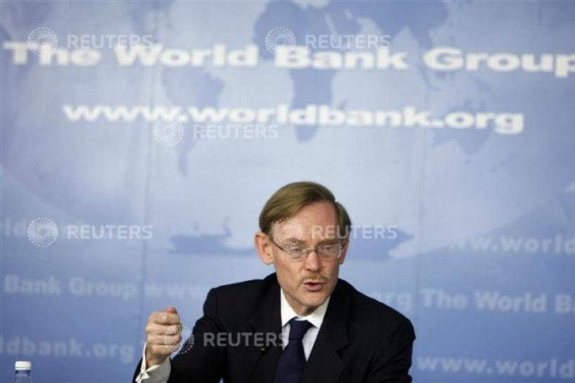 World Bank President Zoellick speaks during news conference at Istanbul Congress Center