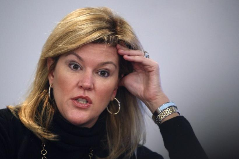 Meredith Whitney, managing director and senior financial institutions analyst for Oppenheimer and Co. Inc., speaks at the Reuters Finance Summit in New York