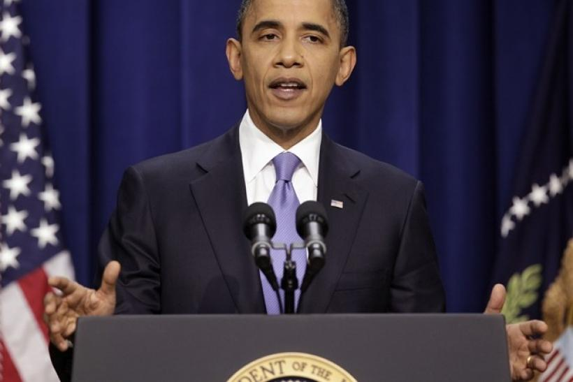 U.S. President Barack Obama speaks during his news conference in the Eisenhower Executive Office Building at the White House in Washington December 22, 2010.