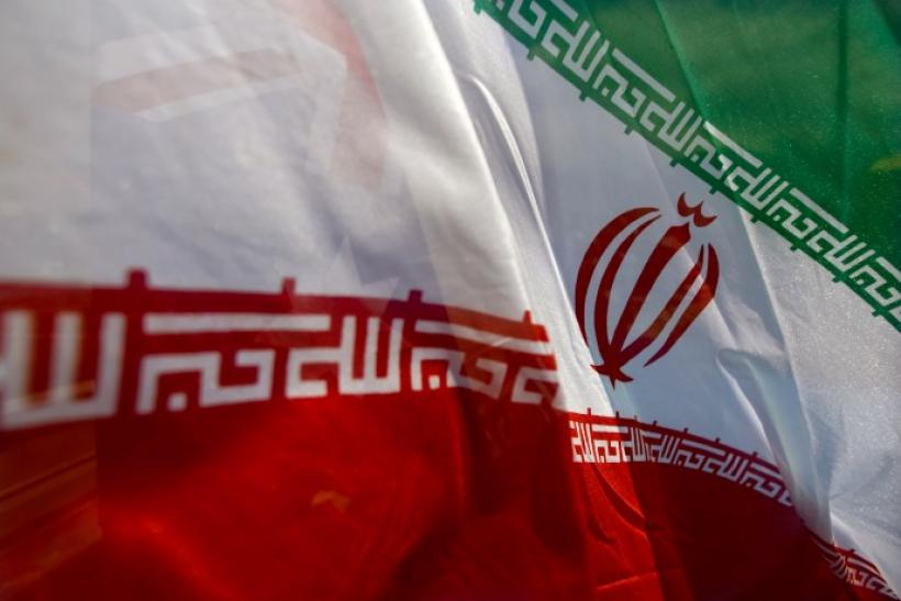 Iran's national flag flutters during 14th IOGPE in Tehran