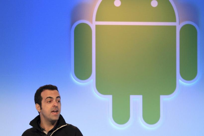 Google's Hugo Barra speaks during presentation of latest version of Android operating system.