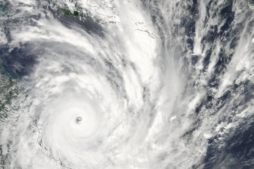 Satellite image of a cyclone