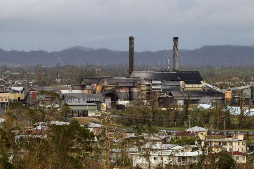 A sugar processing plant stands in the middle of Cyclone Yasi damaged Tully in northern Australian