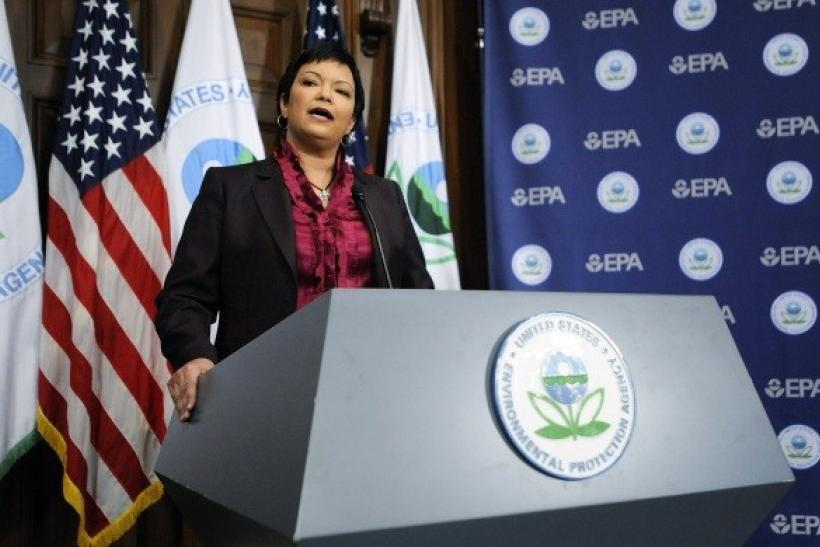 US Environmental Protection Agency Director Lisa Jackson at the EPA in Washington, December 7, 2009