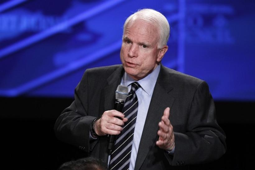 U.S. Senator John McCain (R-AZ) speaks at the 2010 meeting of the Wall Street Journal CEO Council in Washington November 15, 2010.