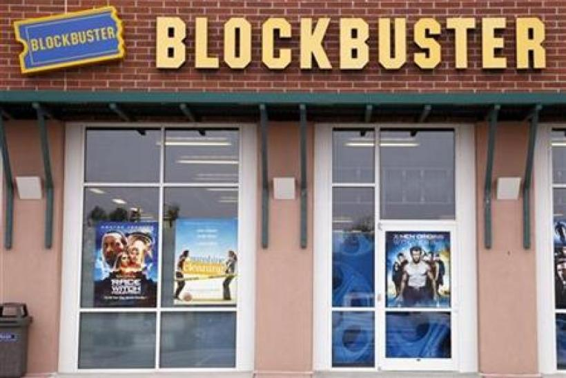 A Blockbuster movie rental store is seen in Golden