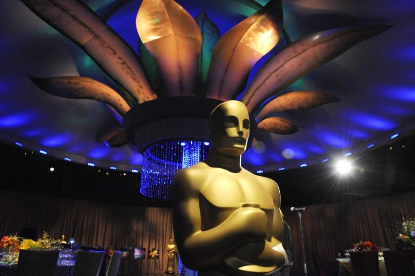 An Oscar statue is seen at a preview of the Governors Ball for the upcoming 83rd annual Academy Awards in Los Angeles