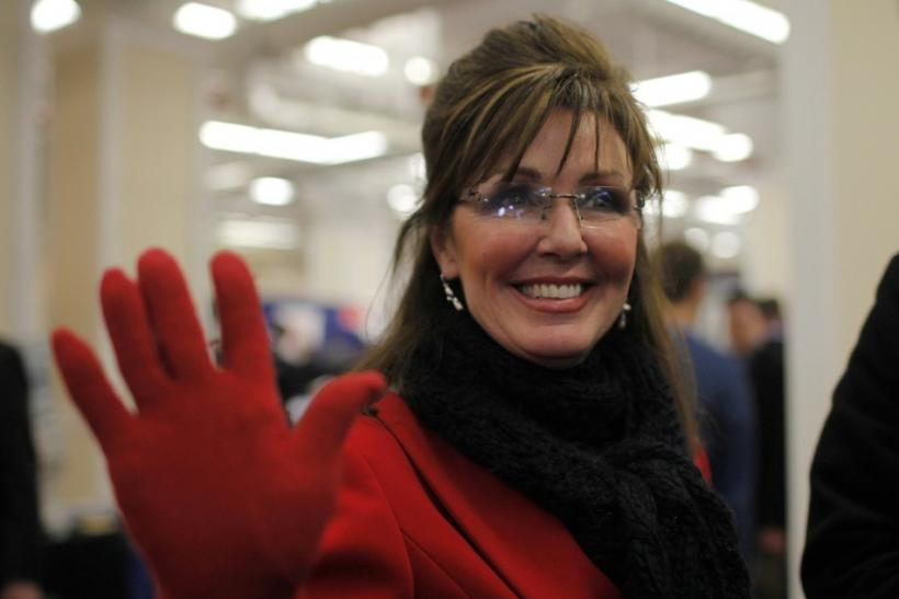 Palin imposter Lyons greets fans at the 38th annual Conservative Political Action Conference meeting at the Marriott Wardman Park Hotel in Washington