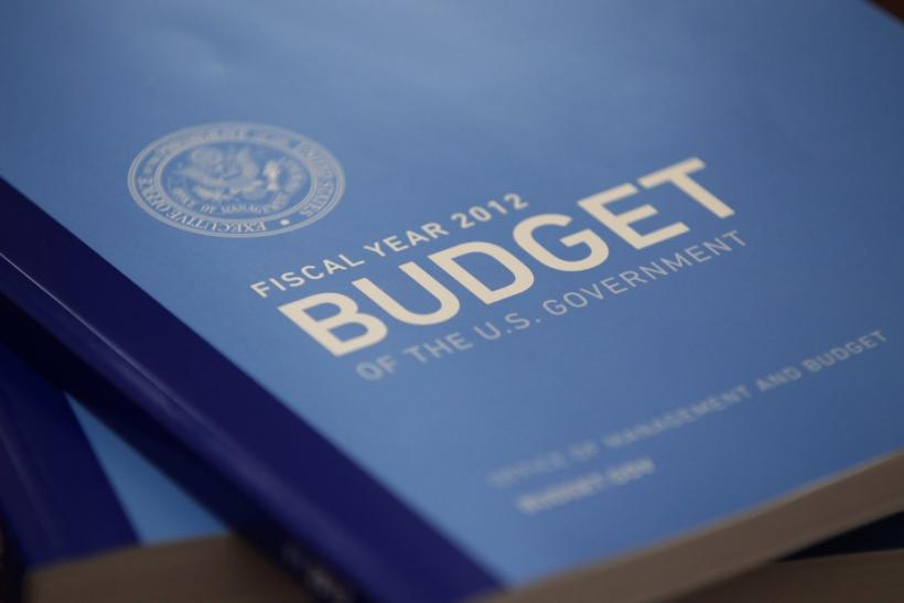 The U.S. 2012 fiscal year budget is unveiled in Washington